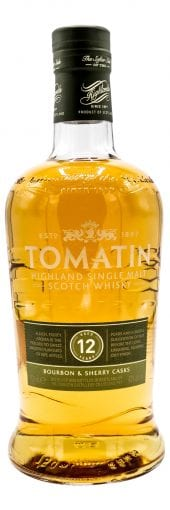 Tomatin Single Malt Scotch Whisky 12 Year Old 750ml