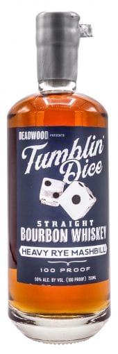 Deadwood Bourbon Whiskey 3 Year Old, Tumblin' Dice 750ml