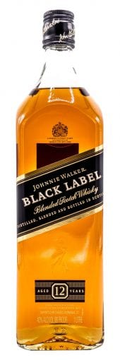 Johnnie Walker Blended Scotch Whisky Black 1L