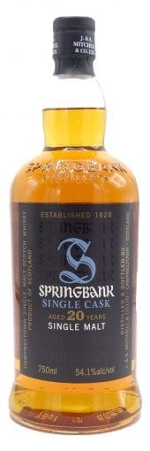 Springbank Single Malt Scotch Whisky 20 Year Old 750ml
