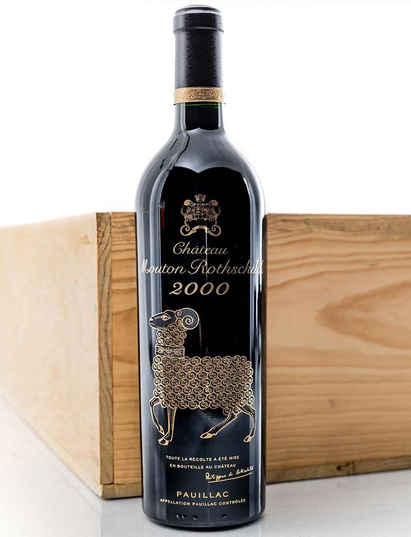 Lot 1018: 12 bottles 2000 Chateau Mouton Rothschild in OWC