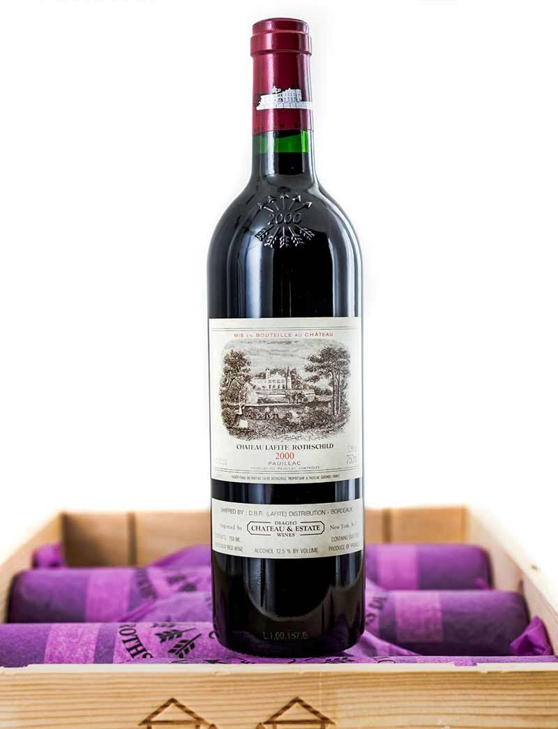 Lot 207: 12 bottles 2000 Chateau Lafite Rothschild in OWC