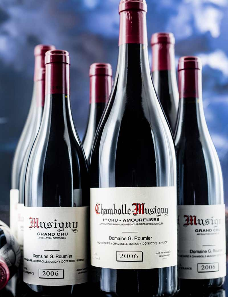 Lot 435, 436: 3 magnums 2006 G. Roumier Chambolle Musigny Les Amoureuses and 6 bottles Musigny